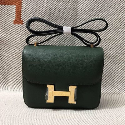 Hermes Constance Bag Epsom Leather Gold Hardware In Emerald
