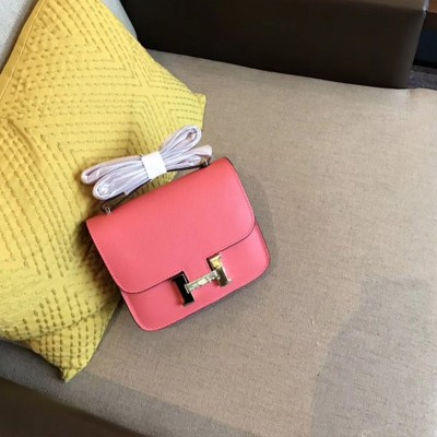 Hermes Constance Bag Epsom Leather Gold Hardware In Pink
