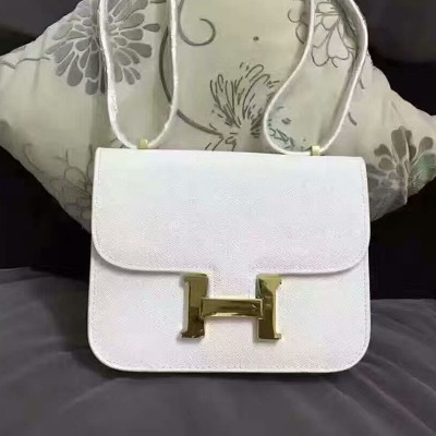 Hermes Constance Bag Epsom Leather Gold Hardware In White