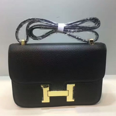 Hermes Constance Bag Togo Leather Gold Hardware In Black