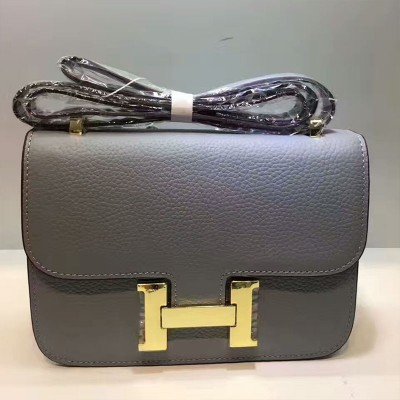 Hermes Constance Bag Togo Leather Gold Hardware In Sky Blue