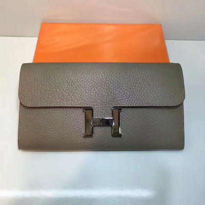 Hermes Constance Wallet Togo Leather Palladium Hardware In Marble