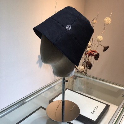 Hermes H Cotton Bucket Hat In Black