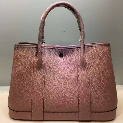 Hermes Garden Party Bag Togo Leather In Pink