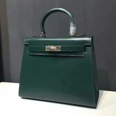 Hermes Kelly Bag Box Leather Gold Hardware In Green