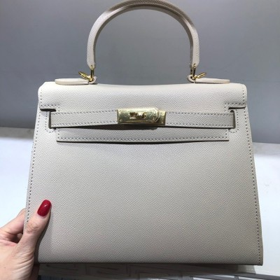 Hermes Kelly Bag Togo Leather Gold Hardware In Beige