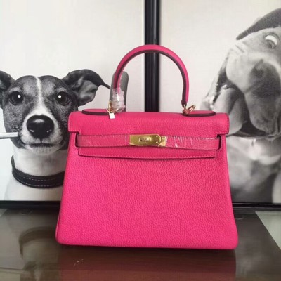 Hermes Kelly Bag Togo Leather Gold Hardware In Rose