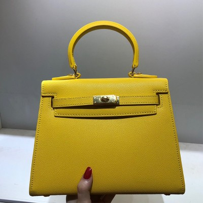 Hermes Kelly Bag Togo Leather Gold Hardware In Yellow