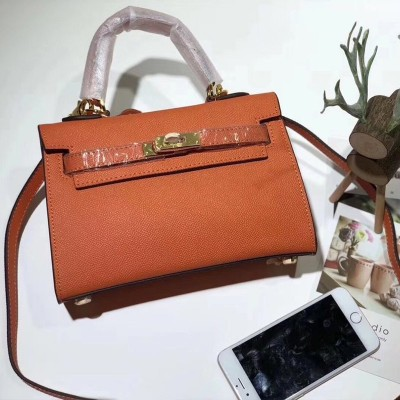 Hermes Kelly II Mini Bag Epsom Leather Gold Hardware In Orange
