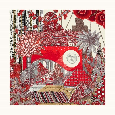 Hermes La Clairiere Shawl 140 In Red