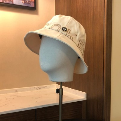 Hermes Letter Embroidery Bucket Hat In White