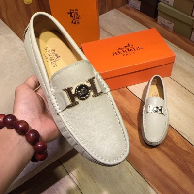 Hermes Loafer Togo Leather Beige