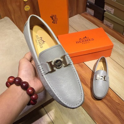 Hermes Loafer Togo Leather Grey