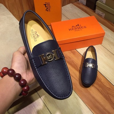 Hermes Loafer Togo Leather Navy Blue