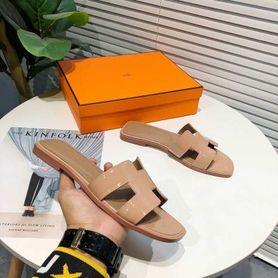 Hermes Oran Sandal Nappa Leather In Nude